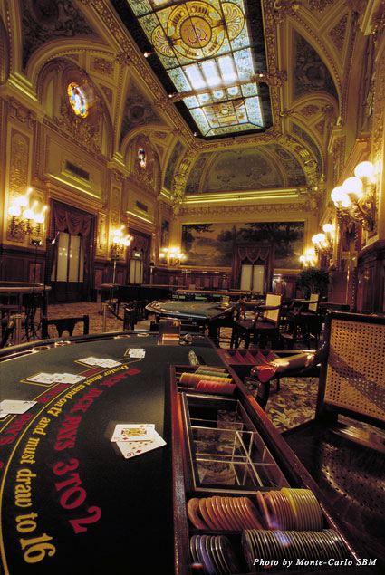 Gaming room at Monte Carlo Casino