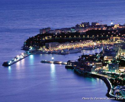Monte Carlo, Monaco, at night