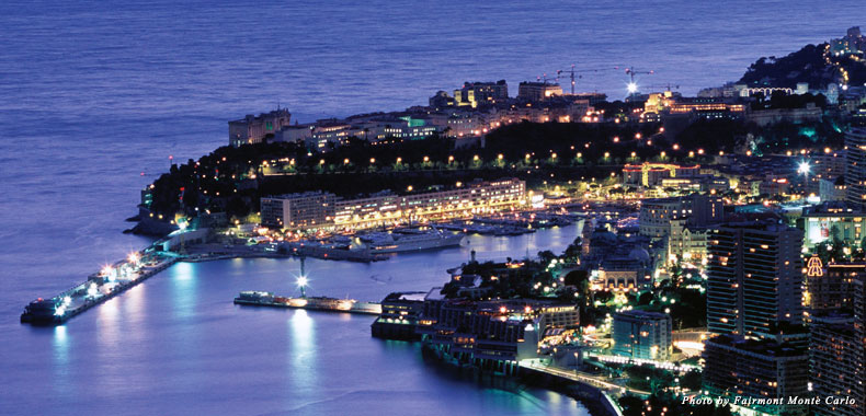 Monte Carlo, Monaco, at night
