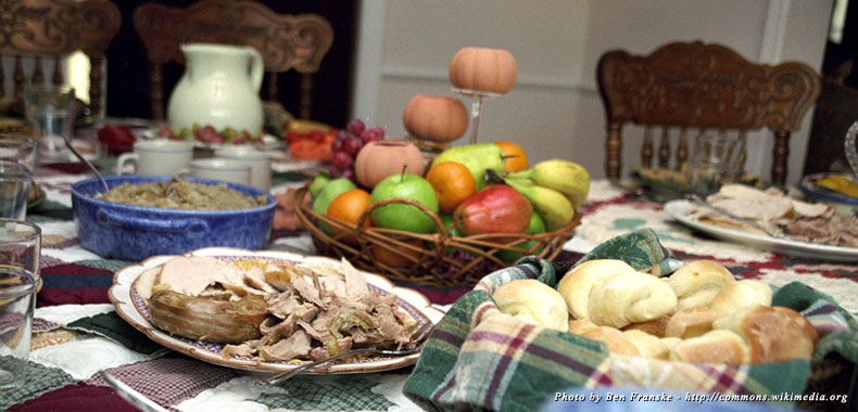 Some of the aspects of a traditional US Thanksgiving day dinner