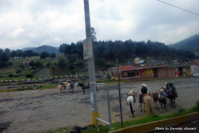 An hour out of Mexico City we were in rolling countryside devoted to recreation