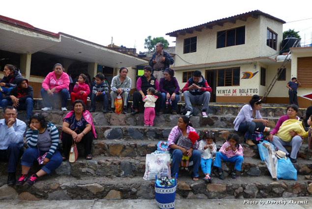 The bus station at Chalma, 15 minutes from Malinalco