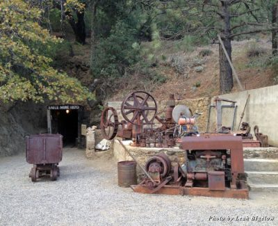 The entrance to Eagle Mine, which opened in 1870 and helped set the foundation for the town of Julian
