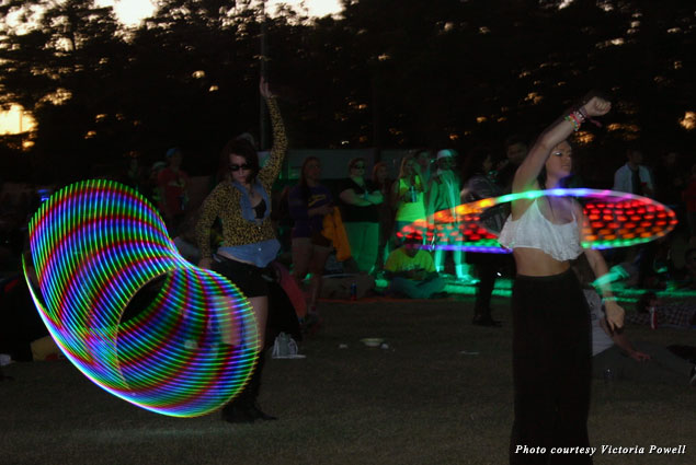 Hula hoopers light up the night at Voodoo Fest