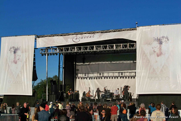 The Apache Relay played the Carnival Stage during Voodoo 2013