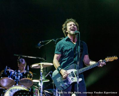 Eddie Vedder and Pearl Jam headlined the 15th Annual 2013 Voodoo Music + Arts Experience in New Orleans