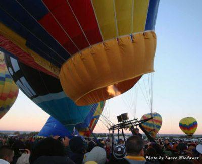 Albuquerque, New Mexico, is home to the Albuquerque International Balloon Fiesta every October