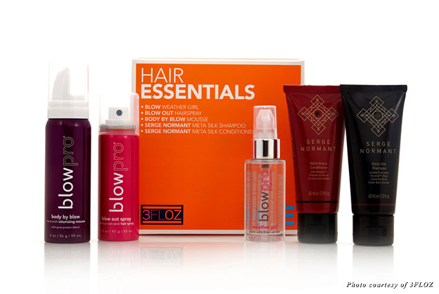 3FLOZ offers curated kits, such as this one containing hair essentials