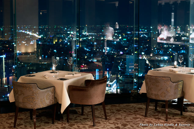 Mezzaluna restaurant at Tower Club at Lebua