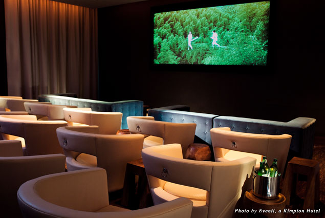 Screening Room at Eventi, a Kimpton Hotel