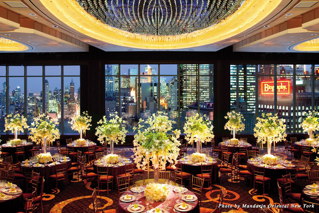 The ballroom at the Mandarin Oriental New York is on the 36th floor