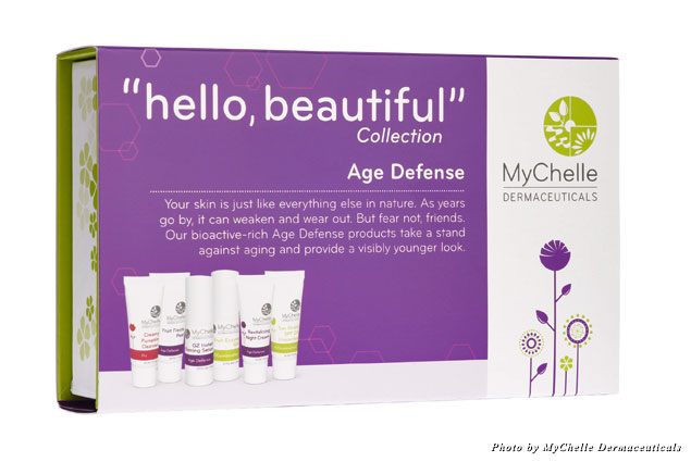 Hello, Beautiful by MyChelle Dermaceuticals products