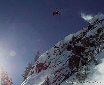 Getting air on Whistler's Air Jordan