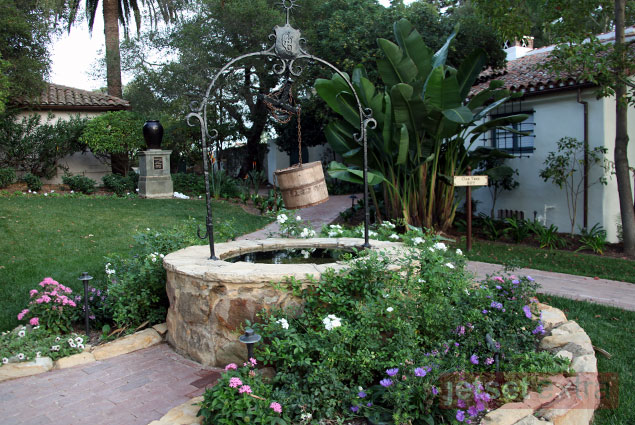 A wishing well on the El Encanto grounds