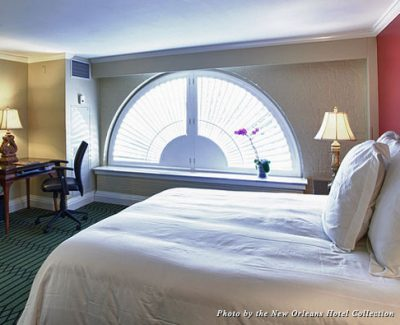 Guestroom interior at the Bourbon Orleans