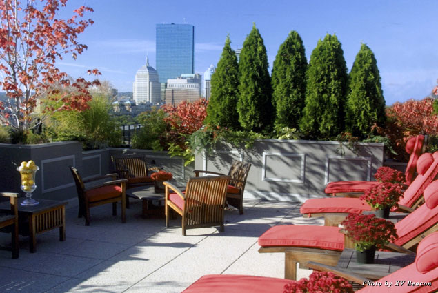 XV Beacon's rooftop terrace