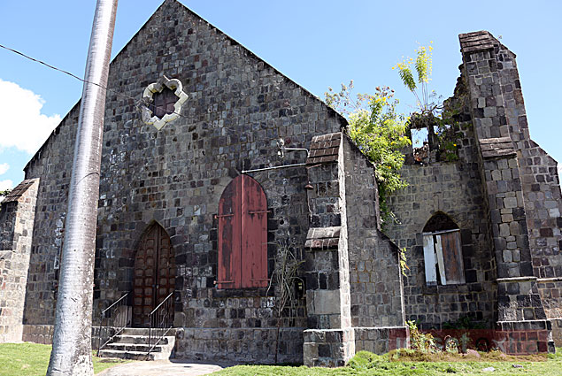 Middle Island Anglican Church, the first Anglican church in the Eastern Caribbean