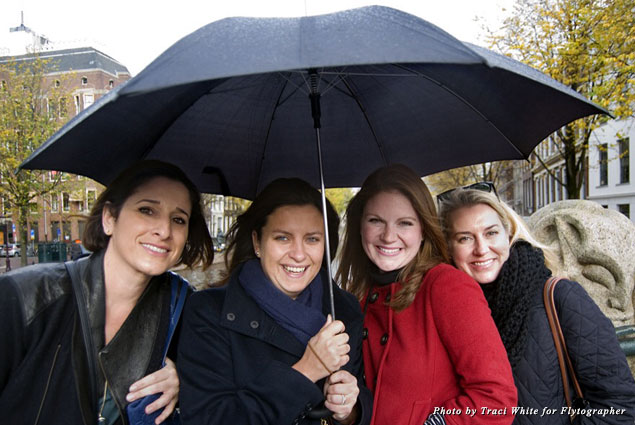Mary Anne, Ana, Lauren, and Ashley in Amsterdam