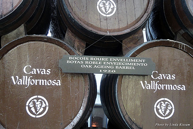 Wine barrels at Vallformosa