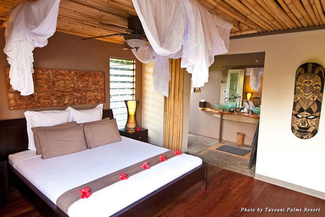 A good night guaranteed in the rooms at Taveuni Palms Resort
