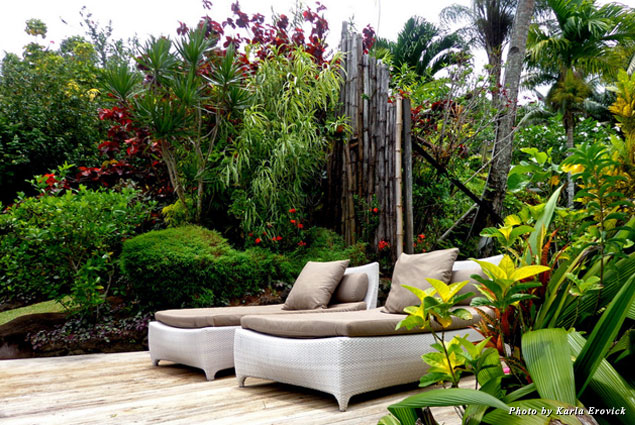 Rest and relaxation on the outdoor lounge chairs