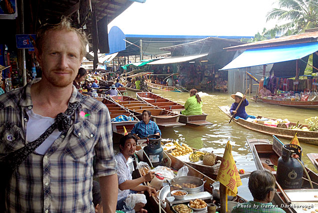 Browsing the goods at a floating market