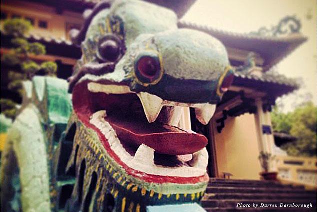 Dragon statue in Saigon City