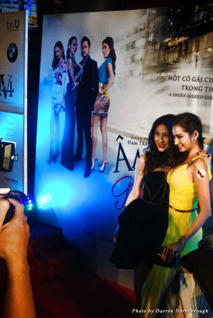 Kathy Uyen and Truong Tri Truc Diem attend the premiere