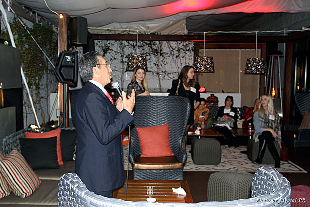 Jorge Gamboa of the Mexico Tourism Board speaks at the Los Angeles Travel Massive event