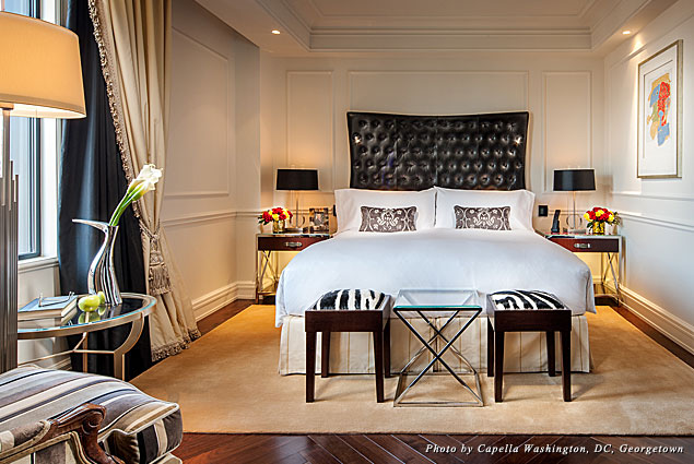 Capella Georgetown Presidential Suite bedroom