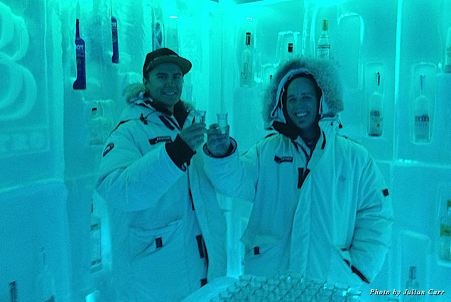 In the Belvedere Ice Room