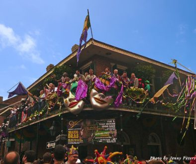 Celebrating Mardi Gras Day in New Orleans' French Quarter, 2013