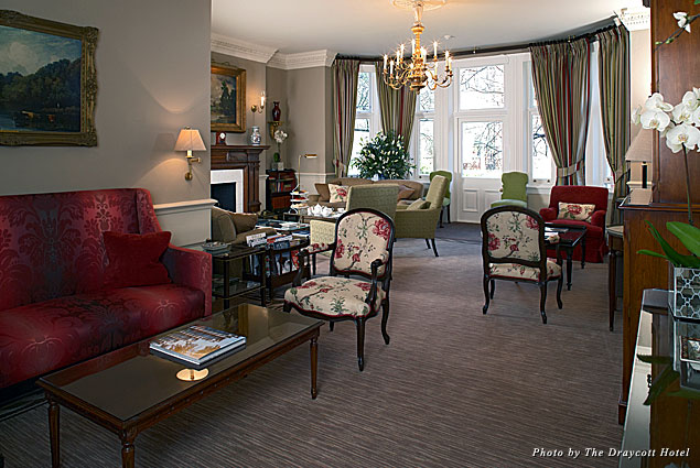 The drawing room at the Draycott Hotel