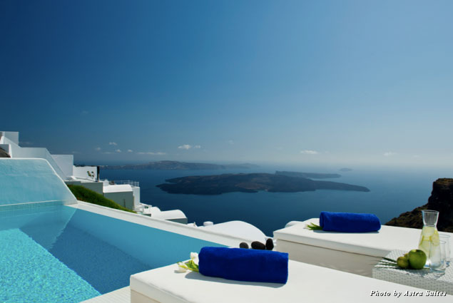 The stellar view from Astra Suites in Santorini, Greece
