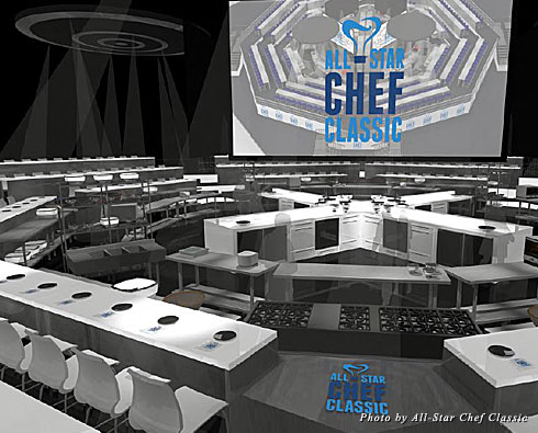 A rendering of the All-Star Chef Classic Restaurant Stadium