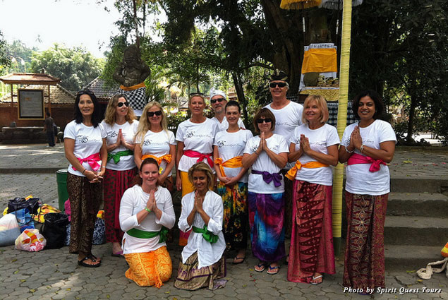 "Travelers on Spirit Quest Tours' ""Eat Pray Love"" tour in Bali"