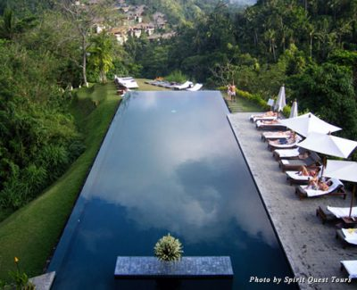 The pool at Alila Ubud hotel in Bali