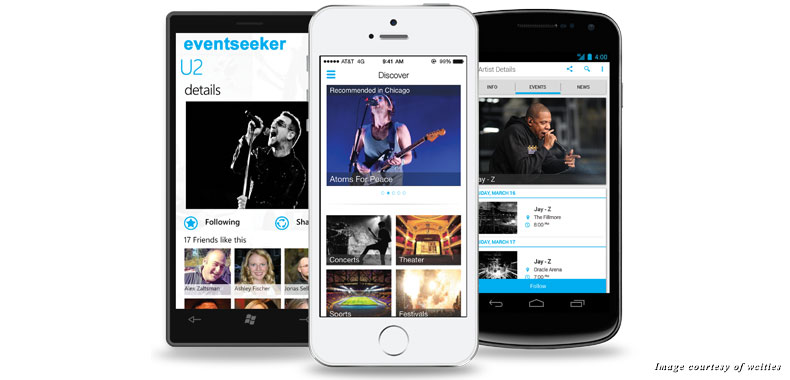 Eventseeker is available for iOS, Windows, and Google devices