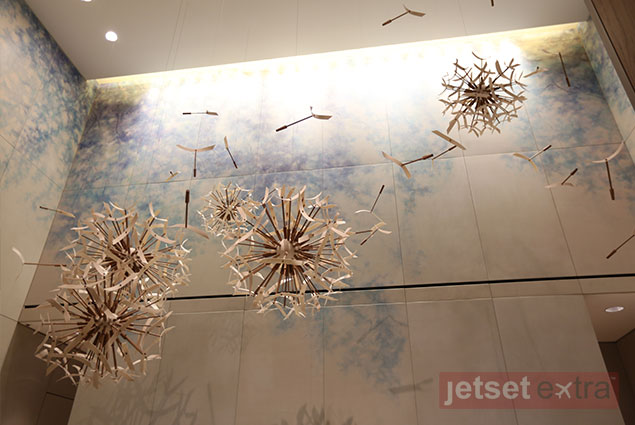 At the Four Seasons Toronto this dandelion mobile hangs over the front desk