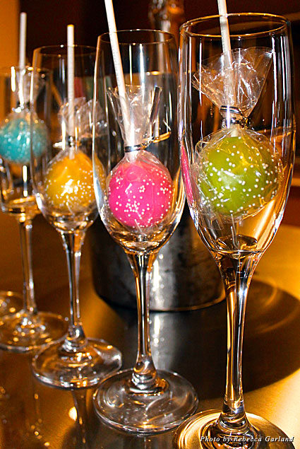 What a girl wants: cake pops and champagne