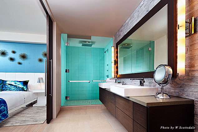 W Scottsdale's WOW Suite master bathroom