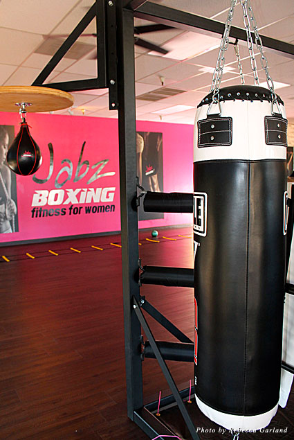 Boxing bags at Jabz