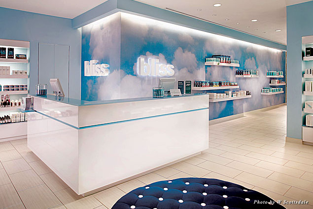 Bliss Spa reception area