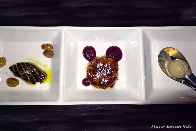 Posh Restaurant's foie gras three ways