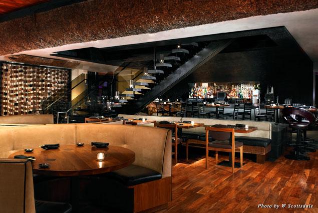W Scottsdale's Sushi Roku dining room