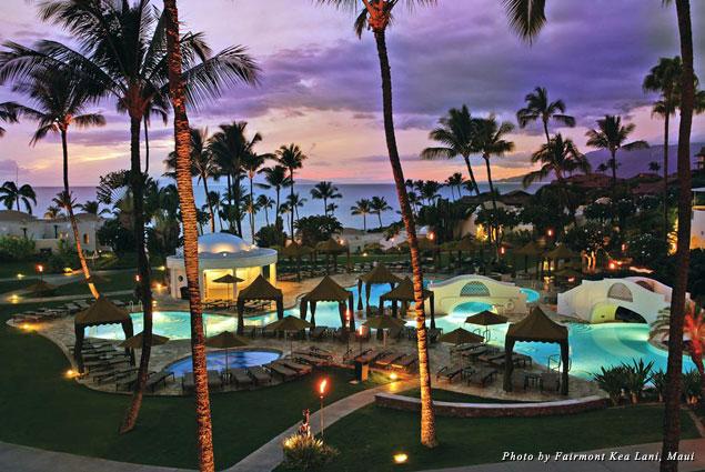 The lagoon pool at the Fairmont Kea Lani, Maui