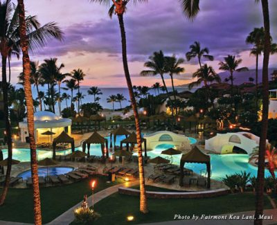 The lagoon pool at the Fairmont Kea Lani, Maui