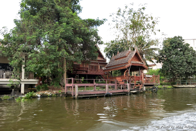 Traditional house along the river