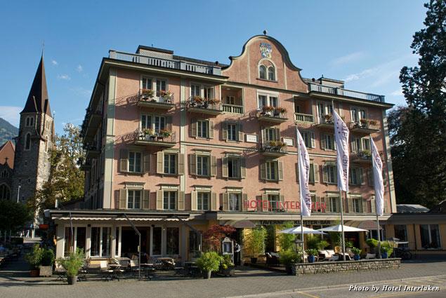 Exterior of the Hotel Interlaken