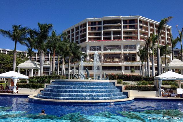 A view of the pool and the Grand Wailea Resort in Wailea, Maui, Hawaii